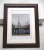 ◆八木伸子「ミラボー橋から」オフセット複製・木製額付・即決◆
