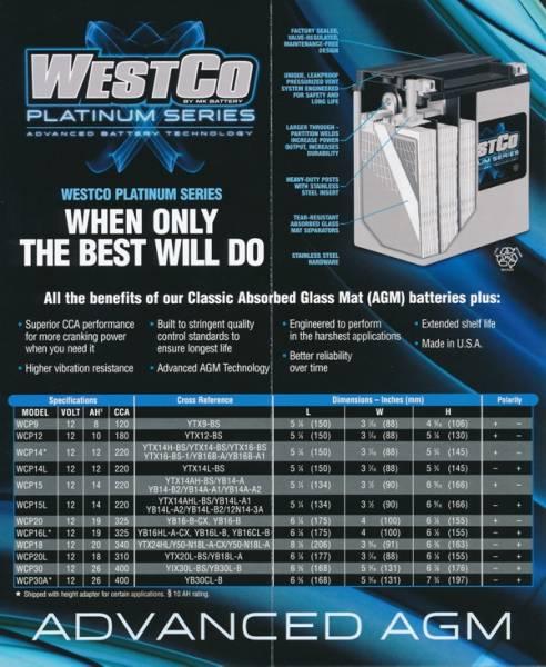 WESTCO WCP20L ユアサYTX20HL-BS サイズが同じ AGMタイプ_画像3