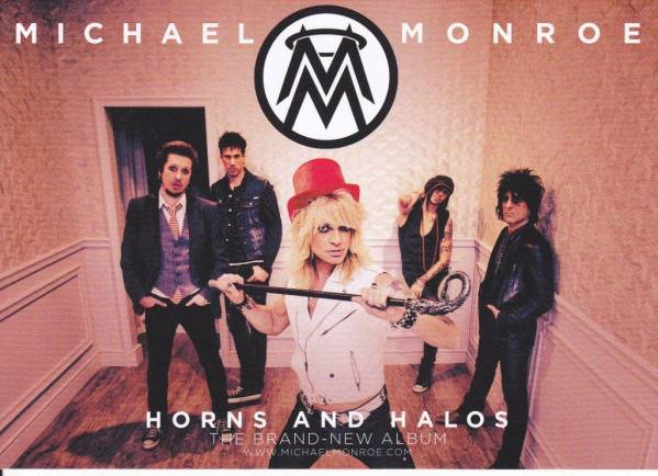 【MICHAEL MONROE】非売品 ポストカード HANOI ROCKS マイケル・モンロー