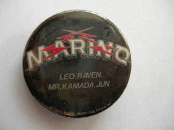 ★関西メタル 「MARINOマリノ」 のレアな缶バッジ【中古】