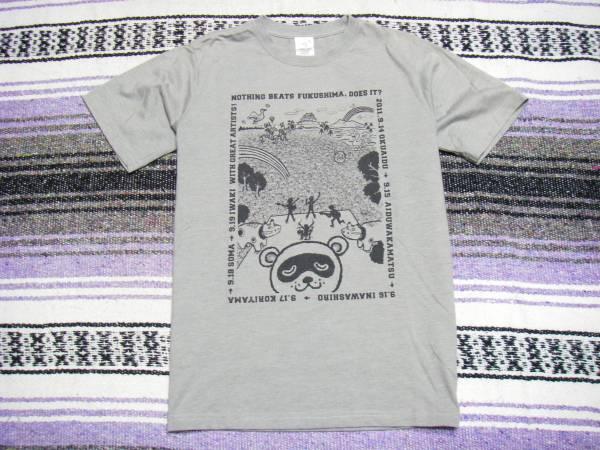 I LOVE NEED YOU FUKUSHIMA 風とロック サイズM半袖Tシャツ/#436
