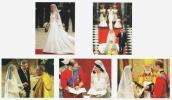 ◆イギリス王室 ロイヤル・ウェディング ウィリアム王子&キャサリン妃 ウェストミンスター寺院 公式ポストカード 5枚セット (1)★UK英国◆