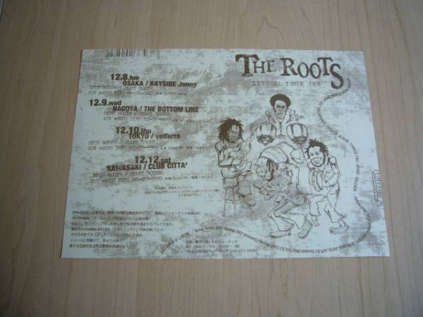 THE ROOTS HIP HOP BAND [ザ・ルーツ] LIVE フライヤー 【非売品】
