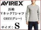 AVIREX Avirex long sleeve V neck T-shirt S gray new goods long T Avirex GREY