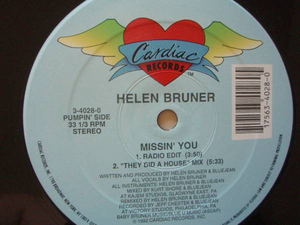 """Helen Bruner - Missin' You ■ハウス 12""""■_画像1"""
