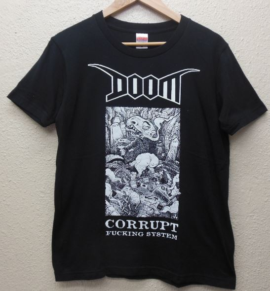 DOOM 運命 TOKYO 2014 Tシャツ Amebix Discharge Anti Cimex
