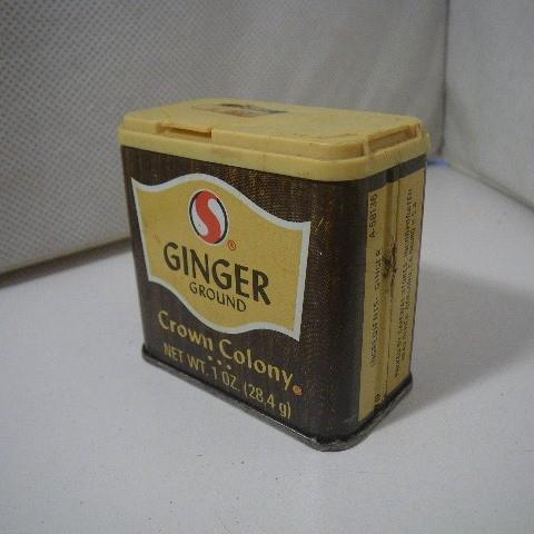 ビンテージ スパイス缶 CROWN COLONY Ginger d235_画像1