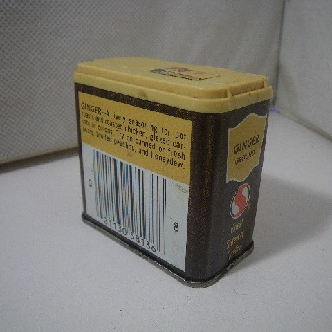 ビンテージ スパイス缶 CROWN COLONY Ginger d235_画像2