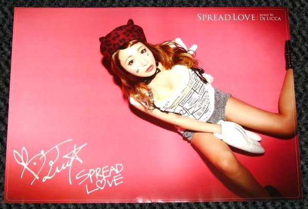 ±14 サイン入りB3ポスター DJ LICCA [SPREAD LOVE]