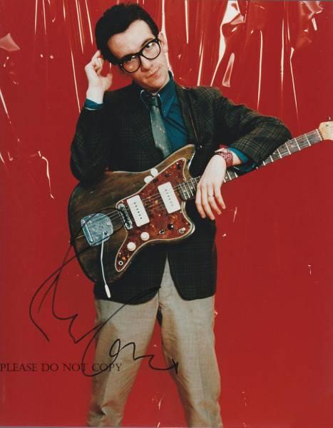 Elvis Costello エルヴィス・コステロ サイン フォト