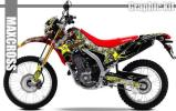 2012-2016 CRF250L CRF250M グラフィック デカール キット 11