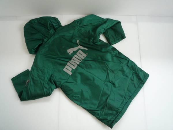 【お買い得!】 ● プーマ / PUMA ● ロング丈ジャンパー 長袖 緑 ロゴ_画像2