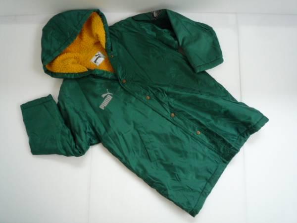 【お買い得!】 ● プーマ / PUMA ● ロング丈ジャンパー 長袖 緑 ロゴ_画像1