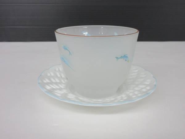 【訳あり特価】●HOYA●茶器・ソーサー 5点セット_画像2
