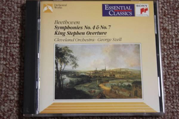 ベートーベン:交響曲第4番Op.60/第7番Op.92/シュテファン王序曲Op.117/クリーヴランド管弦楽団/ジョージ・セル:指揮/CBS SONY/CD_画像1