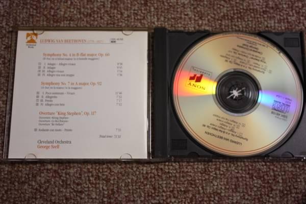 ベートーベン:交響曲第4番Op.60/第7番Op.92/シュテファン王序曲Op.117/クリーヴランド管弦楽団/ジョージ・セル:指揮/CBS SONY/CD_画像2