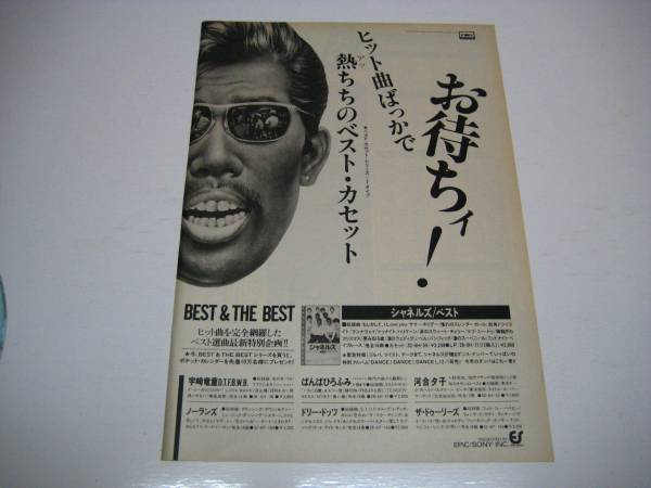 切抜 シャネルズ 広告 1980年代 鈴木雅之 ラッツ&スター