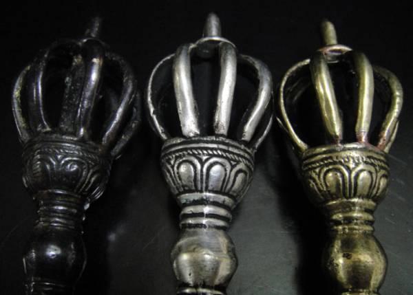 ◆チベット密教法具 九鈷杵-ドルジェ(3色セット)-1 ◆