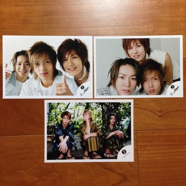 即決¥2000★公式写真 822★山下智久 亀梨和也 Jr.時代 貴重 Jロゴ 3枚セット