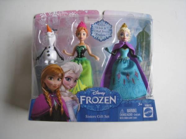 ☃アナ雪/ミニアナとエルサ人形シスターズギフトセット ディズニーグッズの画像