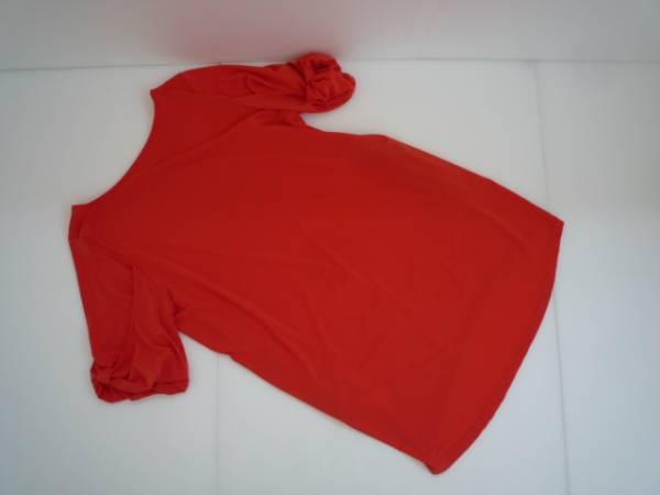 【値下げ!】 ◆ Lovely Style ◆ 袖デザインチュニック オレンジ 半袖_画像2