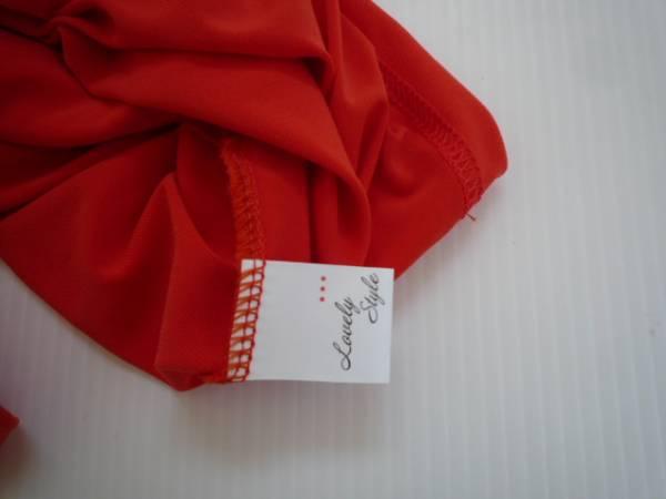 【値下げ!】 ◆ Lovely Style ◆ 袖デザインチュニック オレンジ 半袖_画像3