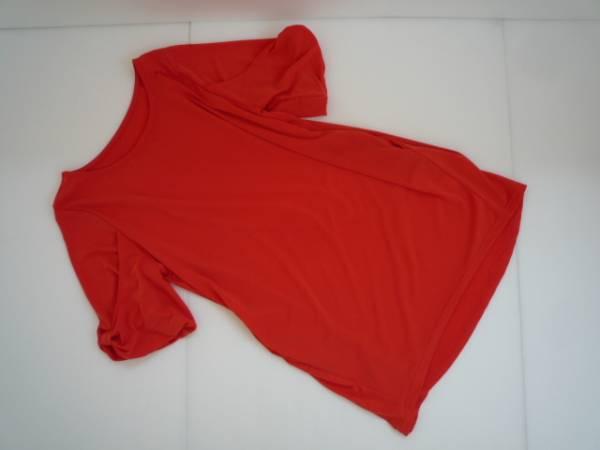 【値下げ!】 ◆ Lovely Style ◆ 袖デザインチュニック オレンジ 半袖_画像1