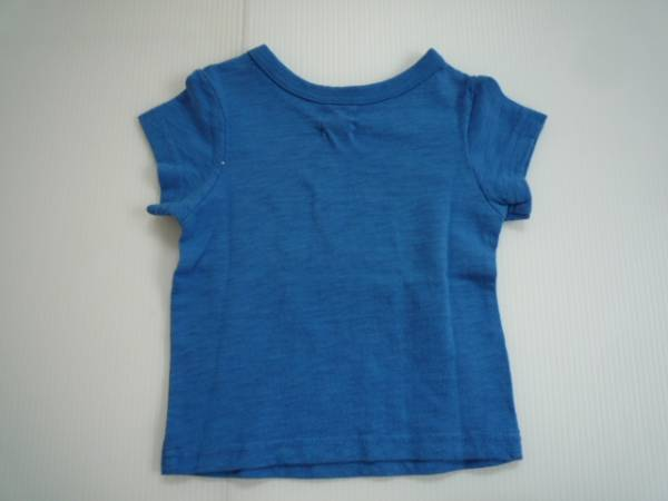 【新品・30%OFF!!】■DLASH■ 半袖Tシャツ 80 青 イラスト_画像2
