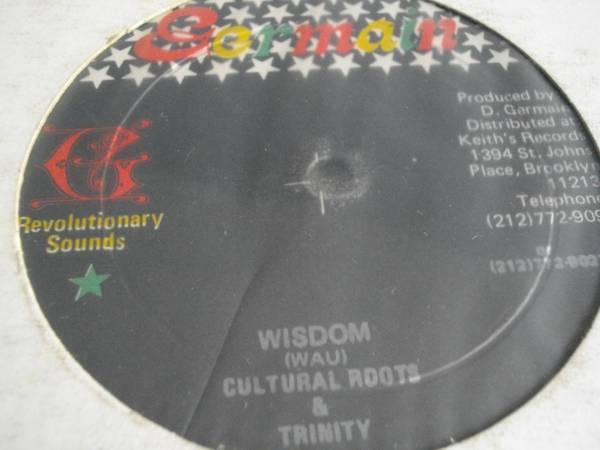12inch org cultural roots&trinity [wisdom] EX- reggae レゲエ vintage ビンテージ roots ルーツ オリジナル jamaica ジャマイカ_画像2