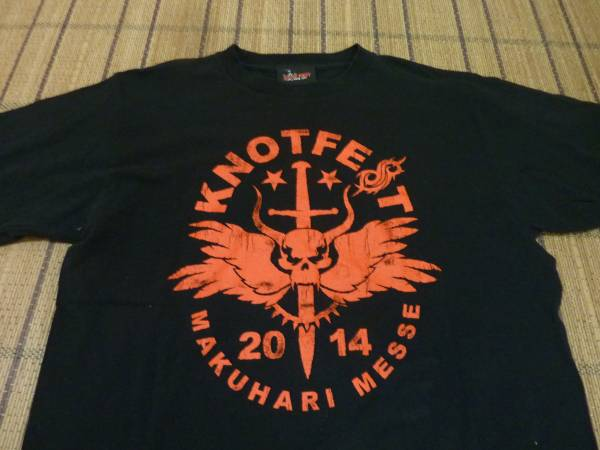 KNOTFEST ノットフェス 2014 半袖Tシャツ Lサイズ黒 送料込