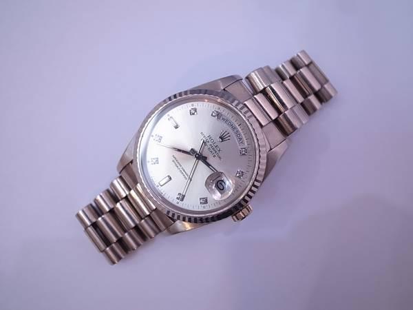 f14525e0e05 ROLEX ロレックス 18239A デイデイト WG L番 10Pダイヤ