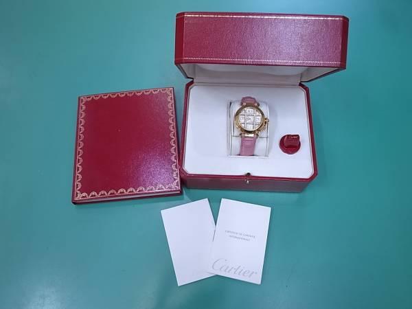 CARTIER カルティエ パシャ32mm 純正ダイヤグリッド 腕時計_画像1
