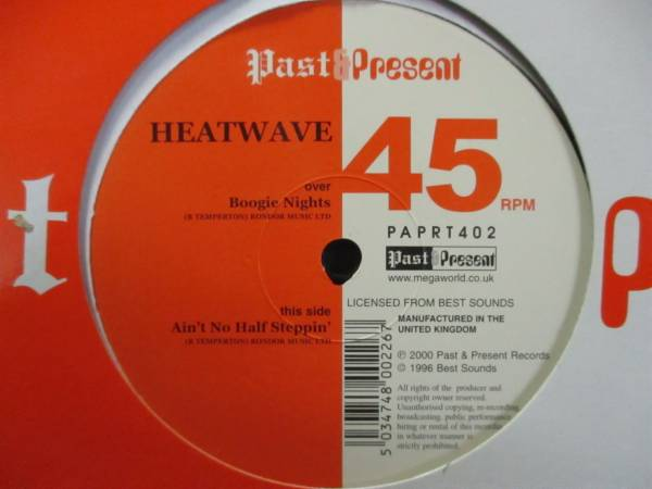 Heatwave - Boogie Nights c/w Ain't No Half Steppin' 12''_画像1