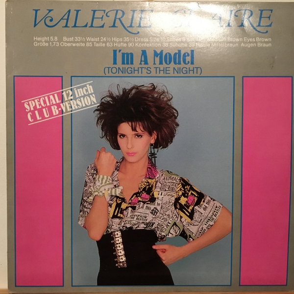 ○Valerie Cleire/Im A Model○スリージーSYNTH BOOGIE!_画像1