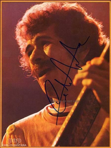 1972年 Carlos Santana カルロス・サンタナ サイン フォト