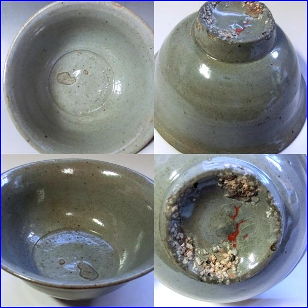 茶碗■高麗青磁 砂高台 時代物 李朝 古玩 時代物 古美術 骨董品■_画像3