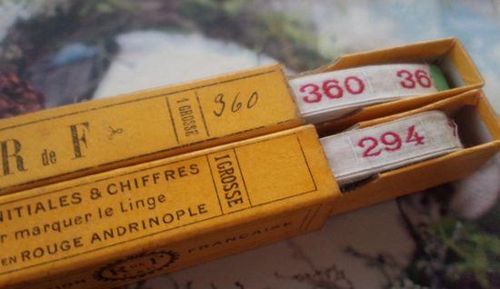 即決*アンティーク*ナンバーテープ・294/360セット(2)_画像1