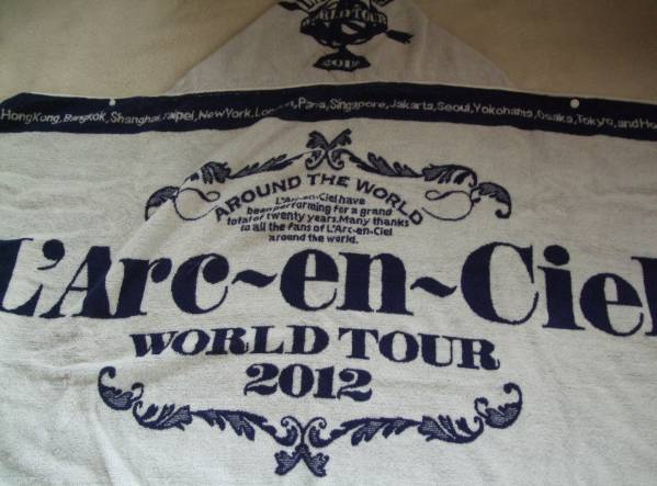 L'Arc-en-Ciel 【ラルク アン シエル】 ◆ WORLD TOUR 2012 THE FINAL 『 フードタオル [BLUE] 』
