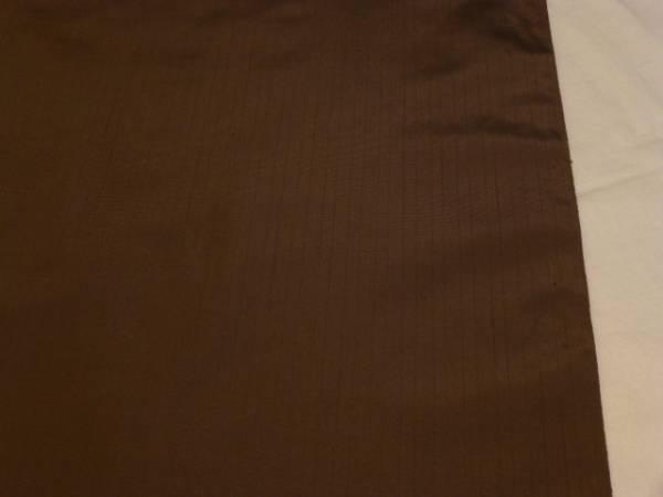 男物★新品正絹反物★山形県・米沢紬着尺★茶色地です_画像2