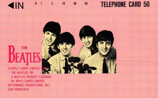 【THE BEATLES】テレカ830_136