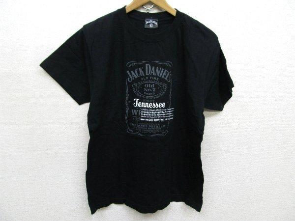 JACK DANIEL'S DISTILLED プリントTシャツ黒Mt6951
