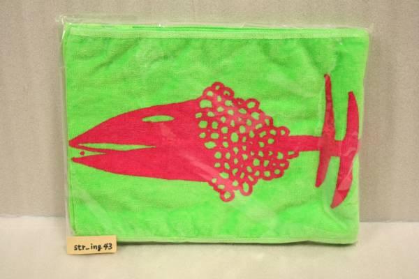 新品 サカナクション 骨ロゴマフラータオル 緑×赤 2009夏グッズ