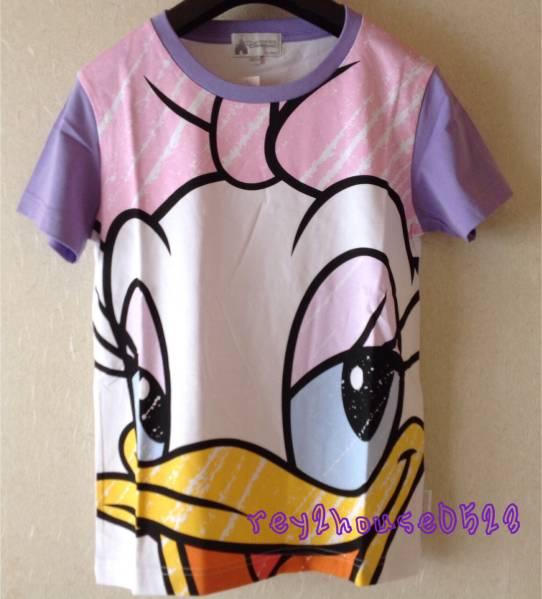 レア 香港 ディズニー デイジー でか顏 フェイス TシャツS ディズニーグッズの画像