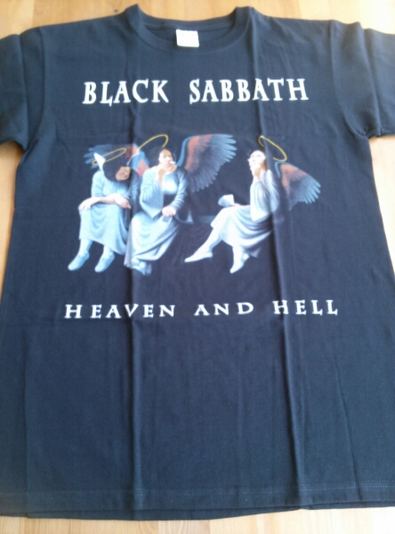 Black Sabbath Tシャツ heaven and hell Tony Iommi 黒M / iron maiden accept