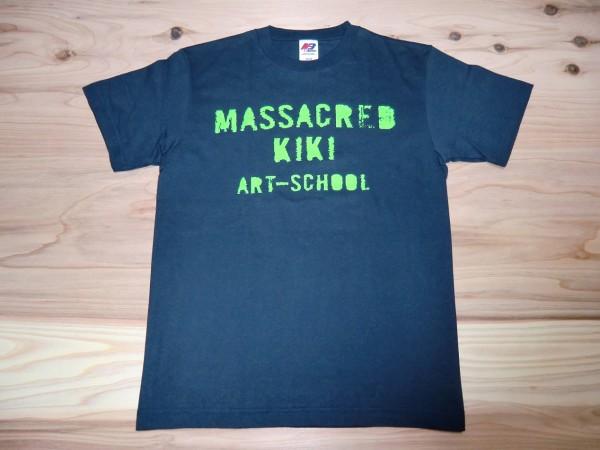 ART-SCHOOL アートスクール MASSACRED KIKI Tシャツ sizeS OGRE YOU ASSHOLE バンドT ロックT ツアーT ライブT ロキノン 音楽