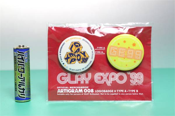 GLAY EXPO '99 SURVIVAL♪缶バッジ2コセット