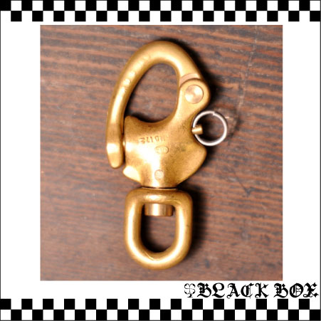 「solid brass 真鍮 無垢 ソリッド ブラス スイベル スナップシャックル ヨット キーホルダー カラビナ イギリス UK GB ENGLAND 英国製 4」の画像1