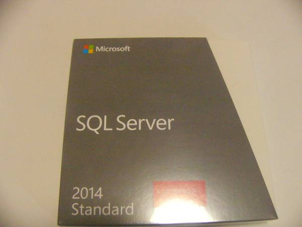 SQL Server Standard Edition 2014 DVD 4 core license new