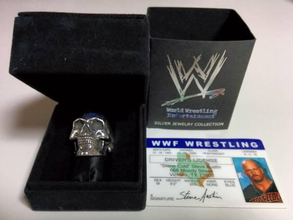 【送料無料】 ストーン コールド スティーブ オースチン シルバー リング WWE SCSA WWF 指輪_画像3