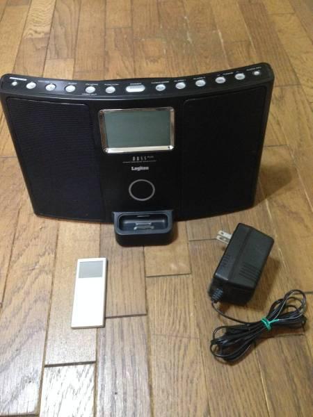 目覚まし 時計 アラーム ラジオ iPod用 スピーカー /中古&ipod_画像1